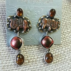Elephant Earrings AKR Sterling